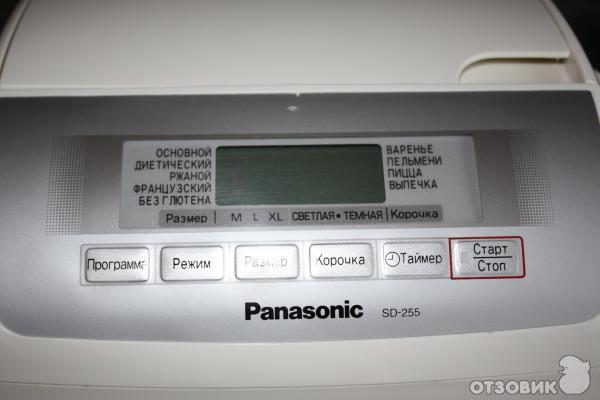 Panasonic sd-255 инструкция, характеристики, форум.