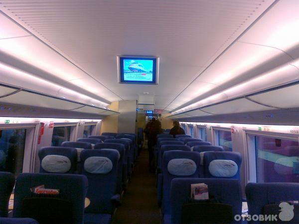 фото поезд сапсан внутри